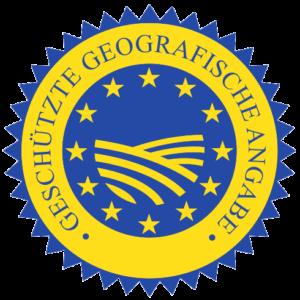 Logo: EU-Siegel geschützte geografische Angabe