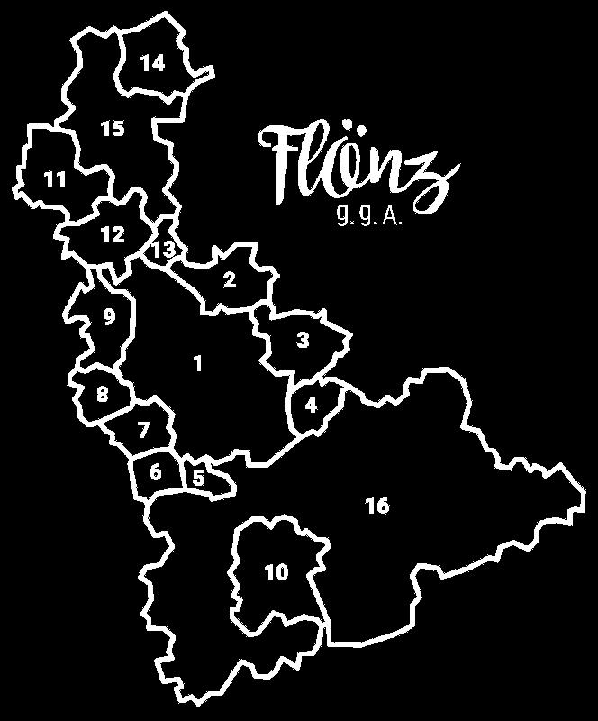 Karte des Flönz g. g. A. Herstellungsgebietes